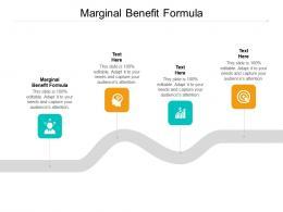 Marginal Benefit Formula Ppt Powerpoint Presentation Diagram Ppt Cpb