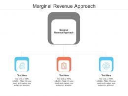 Marginal Revenue Approach Ppt Powerpoint Presentation Slides Visual Aids Cpb