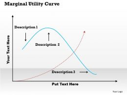 Marginal Utility Curve PowerPoint Template Slide