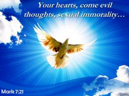 Mark 7 21 Your Hearts Come Evil Thoughts Sexual Powerpoint Church Sermon