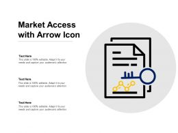 Market Access With Arrow Icon