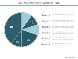 Market Analysis Business Plan Ppt Slide Template