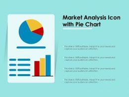 Market Analysis Icon With Pie Chart