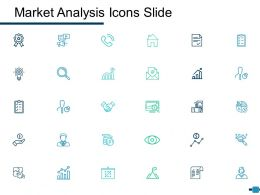 Market Analysis Icons Slide Ppt Powerpoint Presentation Icon Grid