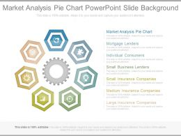 Market Analysis Pie Chart Powerpoint Slide Background
