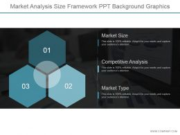 Market Analysis Size Framework Ppt Background Graphics