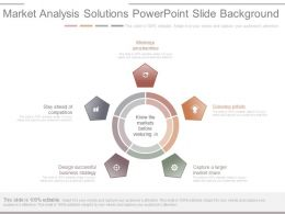 Market Analysis Solutions Powerpoint Slide Background