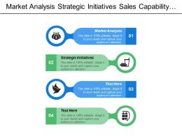 Market Analysis Strategic Initiatives Sales Capability Building Operations Management