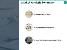 Market Analysis Summary Factors Ppt Powerpoint Presentation Pictures Elements