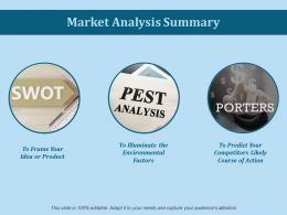 Market Analysis Summary Ppt Slides Styles