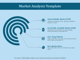 Market Analysis Template Ppt Slides Summary