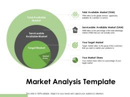 Market Analysis Template Serviceable Market Powerpoint Presentation Pictures Skills