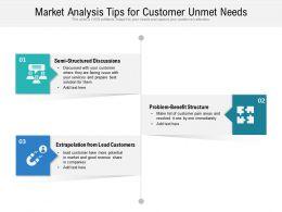Market Analysis Tips For Customer Unmet Needs