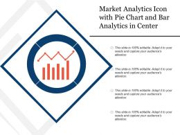 Market Analytics Icon With Pie Chart And Bar Analytics In Center
