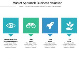 Market Approach Business Valuation Ppt Powerpoint Presentation Inspiration Slideshow Cpb