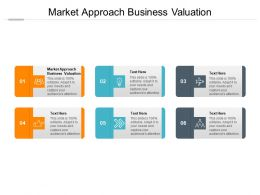 Market Approach Business Valuation Ppt Powerpoint Presentation Portfolio Files Cpb