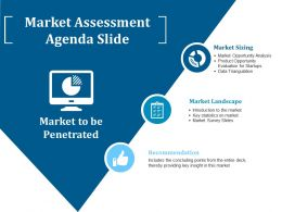 Market Assessment Agenda Slide Ppt Pictures Inspiration