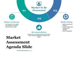 Market Assessment Agenda Slide Ppt Styles Template