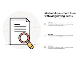 Market Assessment Icon With Magnifying Glass
