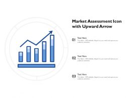 Market Assessment Icon With Upward Arrow