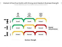 Market Attractive Matrix With Strong And Medium Business Strength
