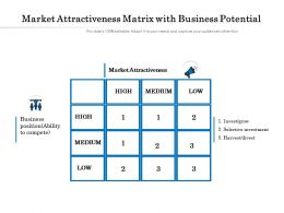 Market Attractiveness Matrix With Business Potential