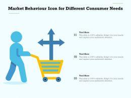 Market Behaviour Icon For Different Consumer Needs