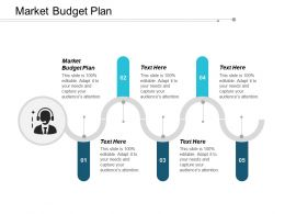 Market Budget Plan Ppt Powerpoint Presentation Infographics Infographic Template Cpb