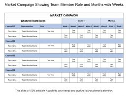 Market Campaign Showing Team Member Role And Months With Weeks