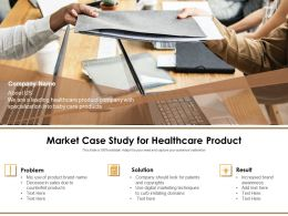 Market Case Study For Healthcare Product