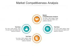 Market Competitiveness Analysis Ppt Powerpoint Presentation Gallery Slide Portrait Cpb