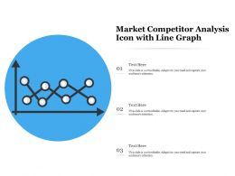 Market Competitor Analysis Icon With Line Graph