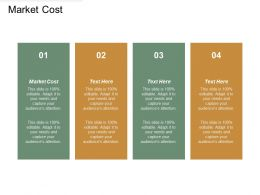 Market Cost Ppt Powerpoint Presentation Icon Ideas Cpb