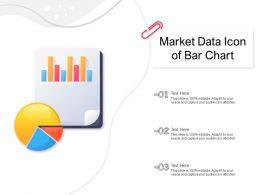 Market Data Icon Of Bar Chart