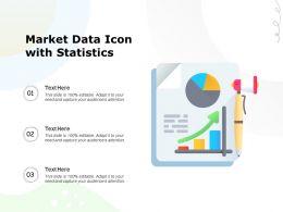 Market Data Icon With Statistics