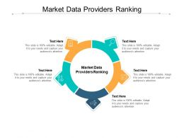 Market Data Providers Ranking Ppt Powerpoint Presentation Pictures Visuals Cpb
