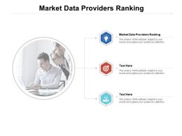 Market Data Providers Ranking Ppt Powerpoint Presentation Show Guidelines Cpb