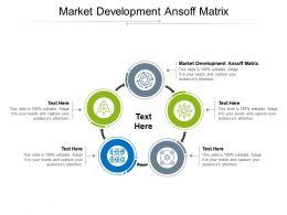 Market Development Ansoff Matrix Ppt Powerpoint Presentation Layouts Maker Cpb
