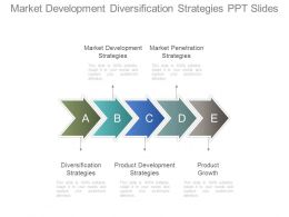 Market Development Diversification Strategies Ppt Slide
