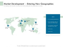 Market Development Entering New Geographies Ppt Gallery Inspiration