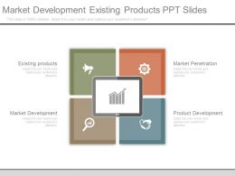 Market Development Existing Products Ppt Slides