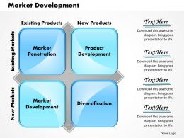 Market Development Powerpoint Presentation Slide Template