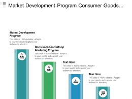 Market Development Program Consumer Goods Coop Marketing Program Cpb