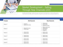 Market Development Selling Through New Channels M3190 Ppt Powerpoint Presentation Visual