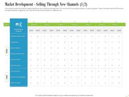 Market Development Selling Through New Channels Mode Ppt Powerpoint Presentation Ideas