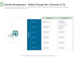 Market Development Selling Through New Channels Ppt Powerpoint Gallery Summary