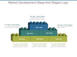 Market Development Steps And Stages Logo Ppt Examples Slides