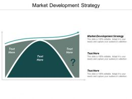 Market Development Strategy Ppt Powerpoint Presentation Icon Influencers Cpb