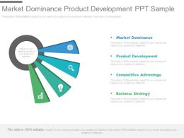 Market Dominance Product Development Ppt Sample