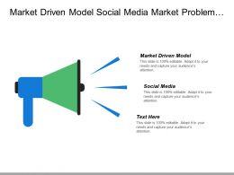 Market Driven Model Social Media Market Problem Technology Assessment